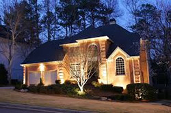 Our lighting offers beauty and security to your home at night!